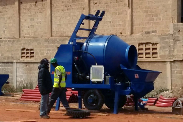 concrete mixer pump in Senegal