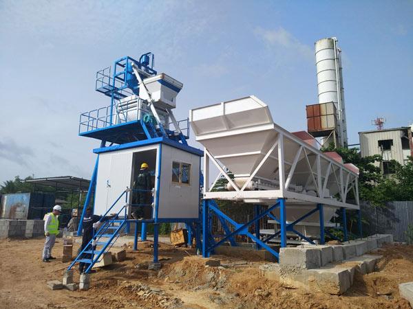 Aimix HZS50 concrete plant in Sri Lanka 2