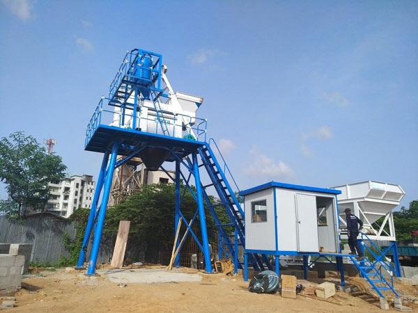 Aimix HZS50 concrete plant in Sri Lanka