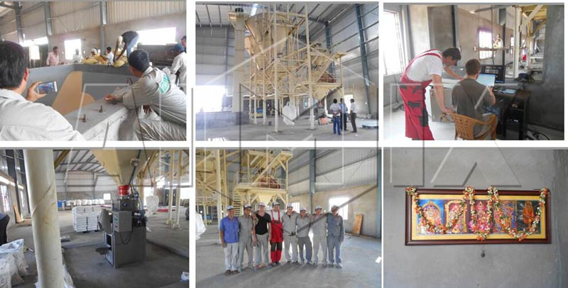 Aimix dry mortar plant in Iran