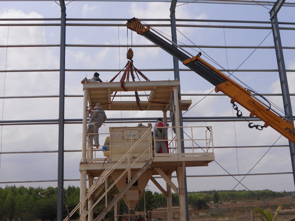 Aimix Dry Mortar Plant installation in Iran