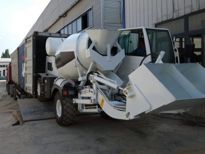 Aimix self loading concrete mixer to Russia 2