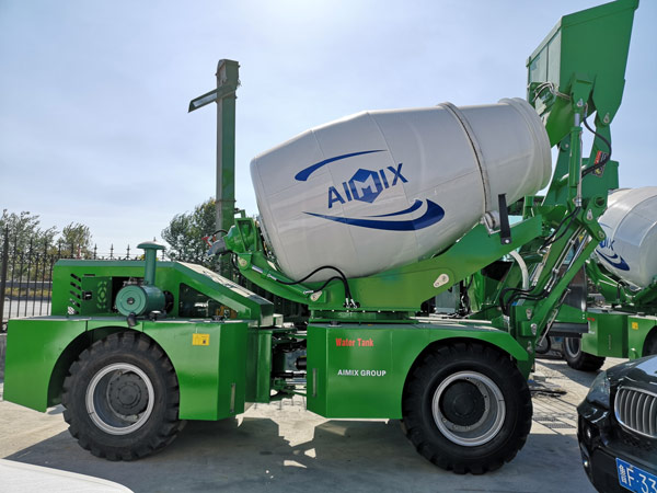 Aimix self loading concrete mixer to be shipped 2