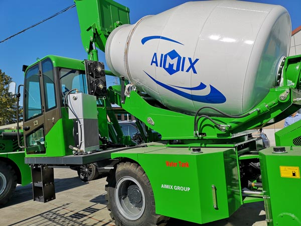 Aimix self loading concrete mixer to be shipped