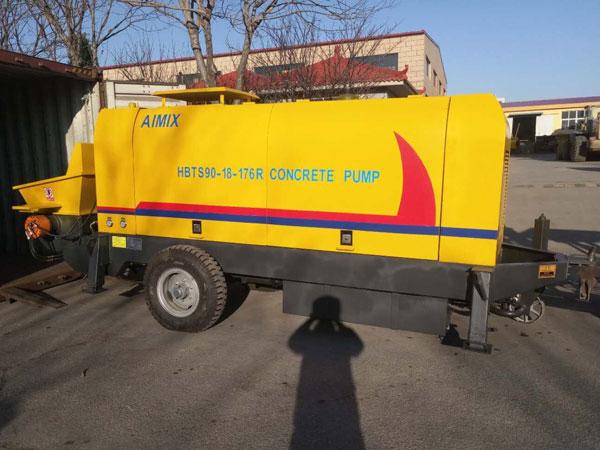 Aimix diesel concrete pump to Kazakhstan 3