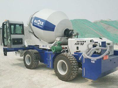 Aimix self loading concrete mixer send to Uzbekistan 3