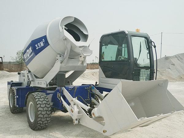 Aimix self loading concrete mixer send to Uzbekistan 4
