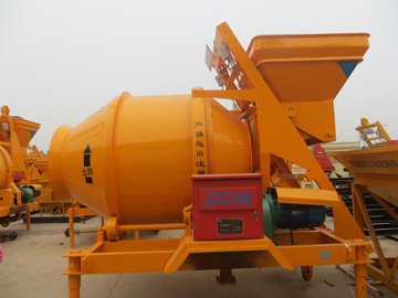 JZC500 large portable concrete mixer