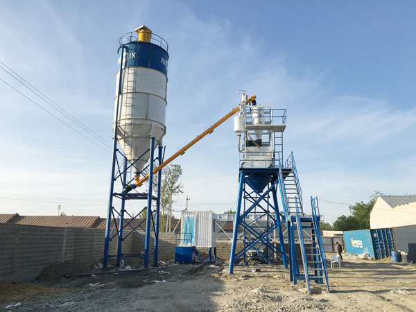 Aimix HZS50 Concrete Plant Set Up In Uzbekistan 2