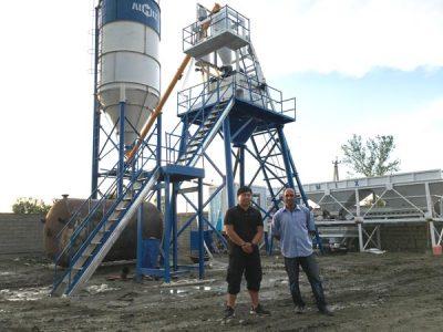 Aimix HZS50 Concrete Plant Set Up In Uzbekistan 5
