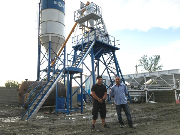 Aimix HZS50 Concrete Plant Set Up In Uzbekistan 5