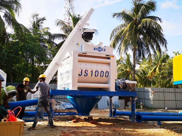 Aimix HZS50 concrete plant set up in Bangladesh 1