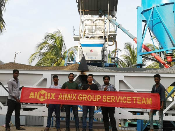 Aimix HZS50 concrete plant set up in Bangladesh 3