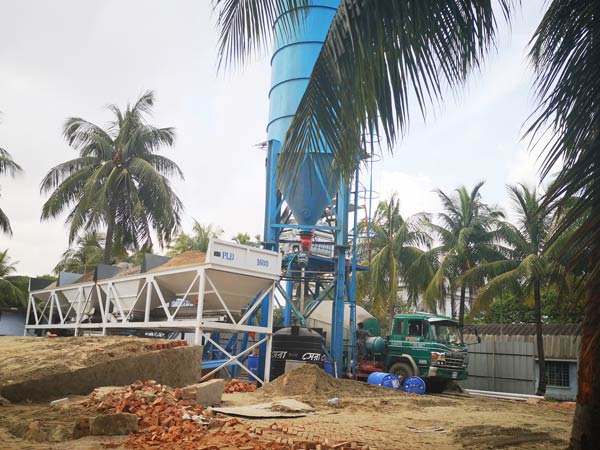 Aimix HZS50 concrete plant set up in Bangladesh 4
