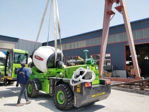 Aimix self loading concrete mixer sent to Namibia 4