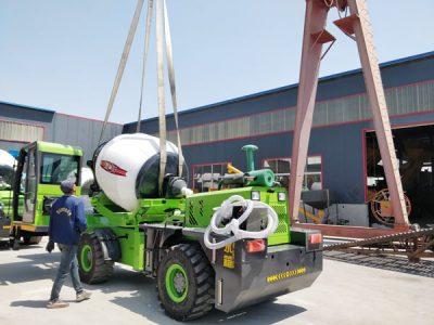 Aimix self loading concrete mixer sent to Namibia 4