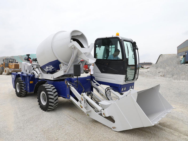 2.6 cub self loading concrete mixer