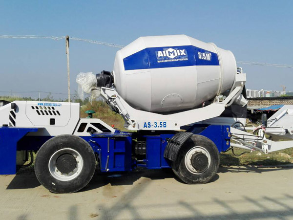 Aimix self loading concrete mixer sent to Myanmar 2
