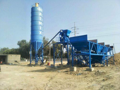 AJ25 concrete plant in Pakistan