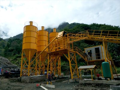 Aimix dry mix concrete plant install in Indonesia 5
