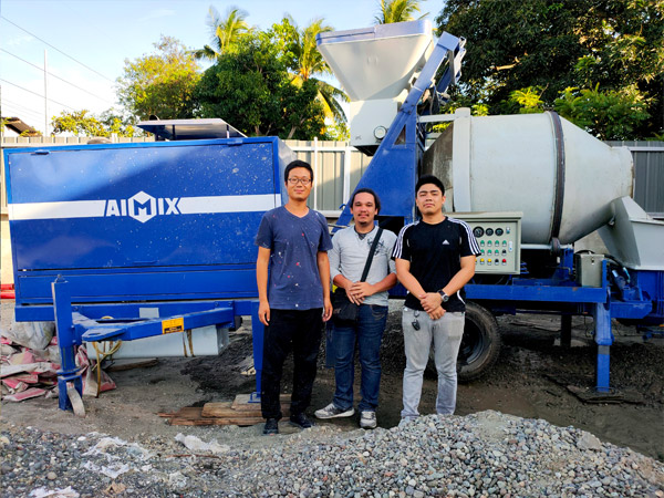 ABJ40C diesel concrete mixer pump in Philippines
