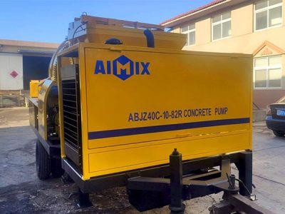 Aimix diesel concrete mixer pump ready to Malaysia 1