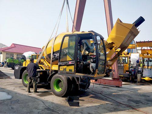 AIMIX AS3.5B self loading concrete mixer sent to Barbados 1