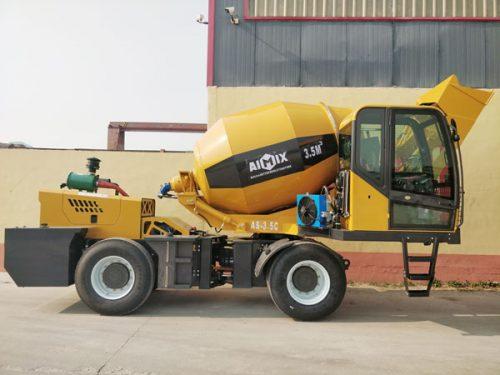 Aimix self loading concrete mixer sent to Kenya 1