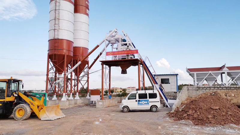 aimix concrete plant installed in Pakistan