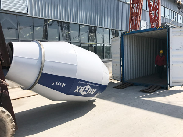 AIMIX 4 cubic meter self loading concrete mixer sent to Russia 1