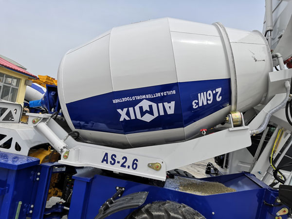 AIMIX self loading concrete mixer sent to Kazakhstan