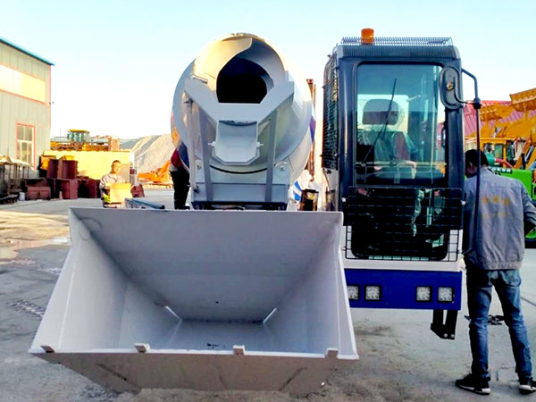 AIMIX self loading concrete mixer sent to Philippines 6