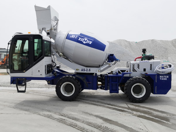 AIMIX self loading concrete mixer to Kazakhstan