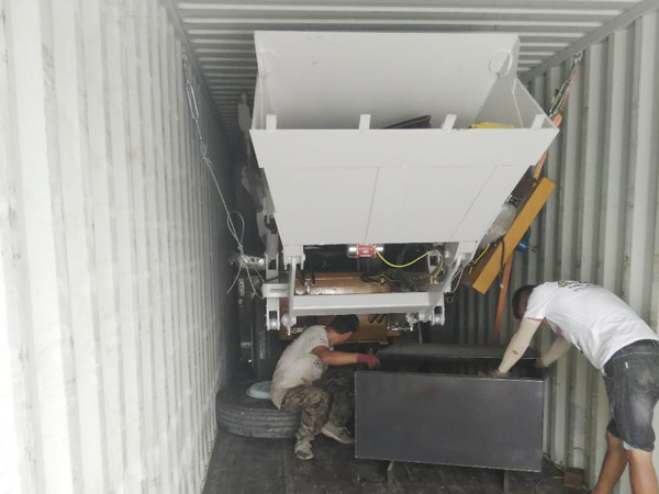 AIMIX 3.5 self load mixer sent to the Philippines