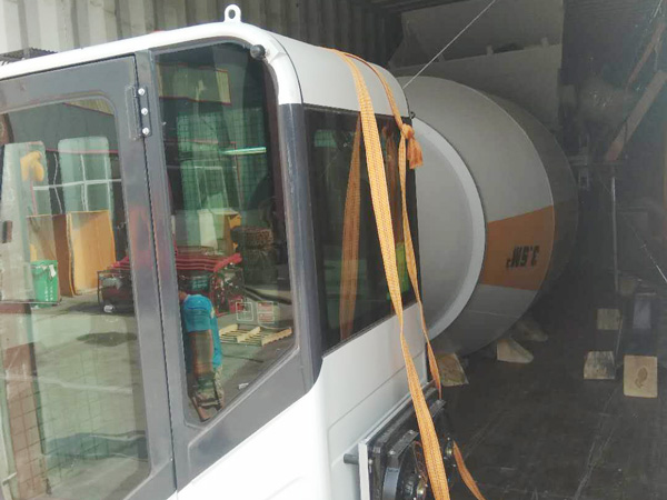 AIMIX 3.5B self load concrete mixer sent to the Philippines