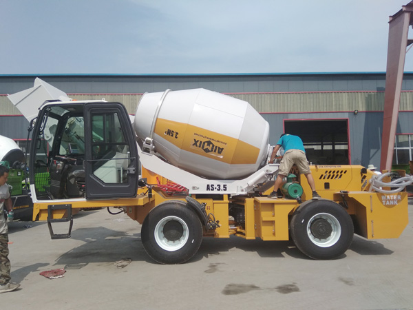 AIMIX 3.5B self loading concrete mixer sent to the Philippines