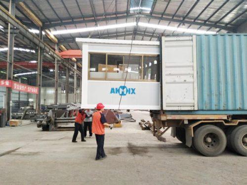 AIMIX AJ25 mini concrete plant sent to Russia