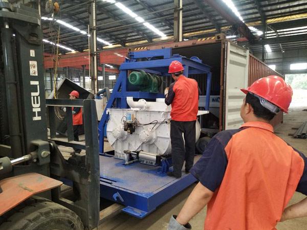 AIMIX mini concrete batching plant sent to Russia