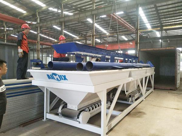 AIMIX mini concrete plant sent to Russia