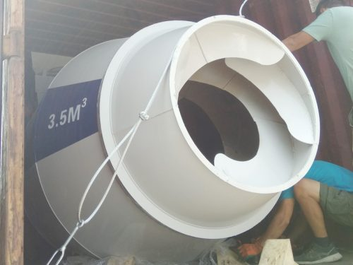 AS3.5 self loading concrete mixer sent to Kazakhstan