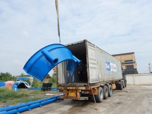 AIMIX AJY35 mobile batching plant sent to Uzbekistan