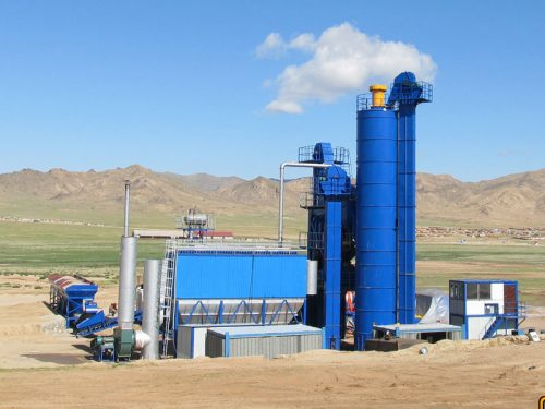 AIMIX ALQ160 asphalt plant installed in Mongolia