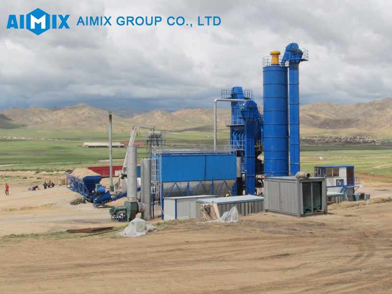 ALQ160 asphalt mixing plant installed in Mongolia