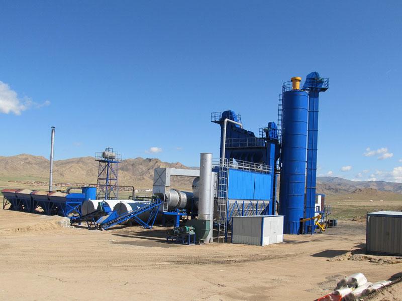 ALQ160 asphalt plant installed in Mongolia