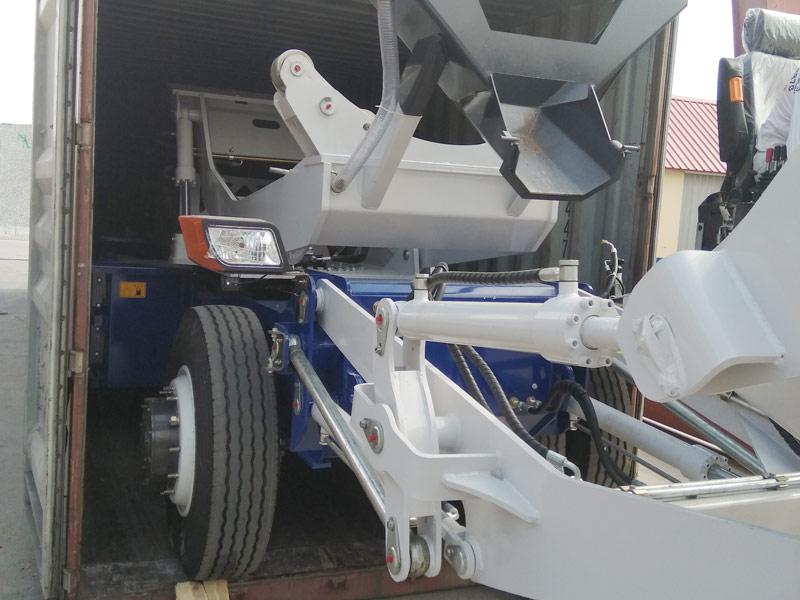 self loading concrete mixer sent to Kazakhstan