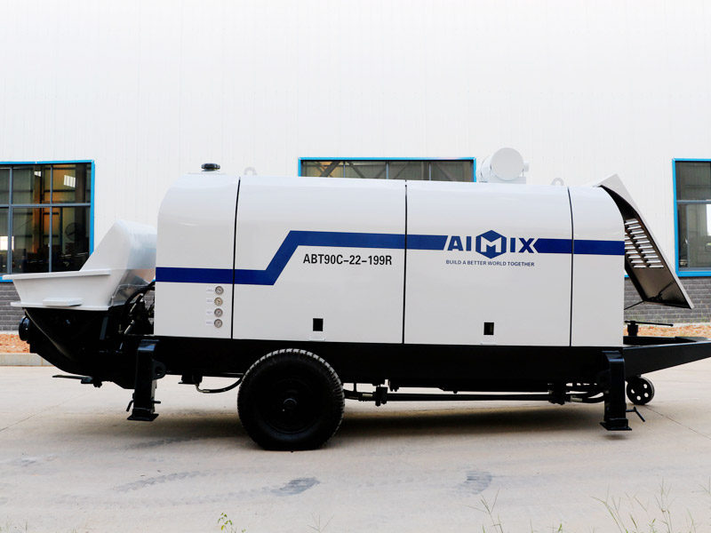 ABT90C diesel concrete pump exported to Uzbekistan