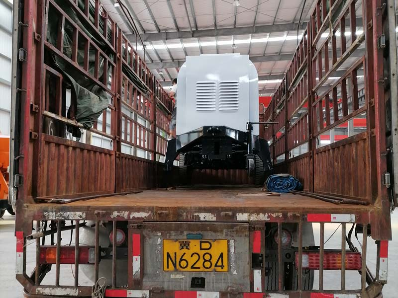 ABT90C diesel concrete pump to Uzbekistan loaded