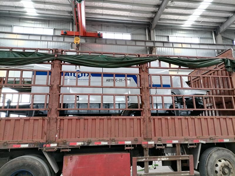 ABT90C diesel concrete pump to Uzbekistan loading