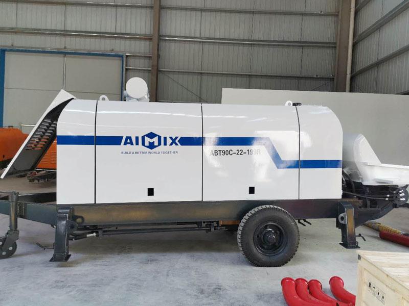 ABT90C diesel concrete pump to Uzbekistan