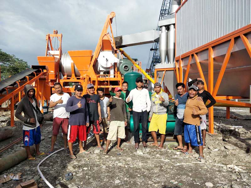 AIMIX 60 asphalt mixing plant in the Philippines